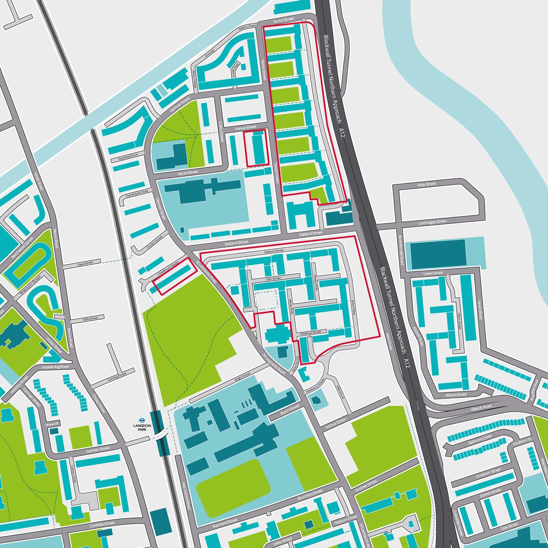 Teviot Regeneration Boundary Map